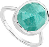 Monica Vinader Siren sterling silver and amazonite medium stacking ring