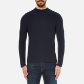 Kenzo Seamless Horizontal Ribbed Knitted Jumper Midnight Blue