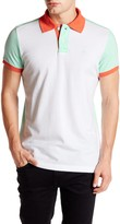 Micros Tailor Fit Colorblock Short Sleeve Polo