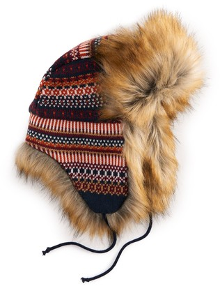 Women's Igloos Faux Fur Lined Trapper Hat (One Size)