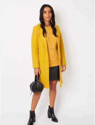 George Ochre Longline Formal Coat