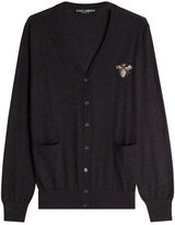 Dolce & Gabbana Cashmere Cardigan with Embellished Motif