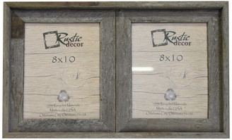 "Rustic Decor Llc Heston Reclaimed Rustic Barn Wood Collage Frame, 8""x10"""