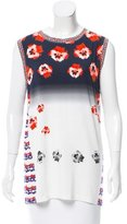 Prabal Gurung Sleeveless Floral Print Top