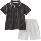 Calvin Klein 2-Pc. Polo Shirt & Cargo Shorts Set, Baby Boys (0-24 Months)