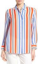 Foxcroft Stripe Crepe Blouse