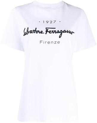 Salvatore Ferragamo 1927 logo-print T-shirt