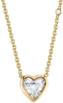 Shay Bezel Diamond Solitaire Heart Necklace - Yellow Gold