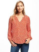 Old Navy Printed Lightweight Shirred Blouse for Women