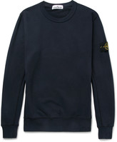 Stone Island Slim-Fit Fleece-Back Cotton-Jersey Sweatshirt
