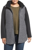 Plus Size Women's Halogen Colorblock Wool Blend Jacket
