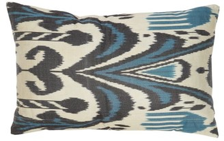 Les Ottomans - Ikat Silk Cushion - Blue Multi