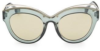 Le Specs Luxe Halogazer Green Oversized Sunglasses