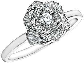 Piaget Rose 18K White Gold & Diamond Ring