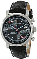 Nautica Men's NAD17503G NFB 01 Analog Display Japanese Quartz Black Watch