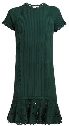 Jonathan Simkhai Cut Out Hem Stretch Knit Dress - Womens - Dark Green