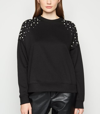 New Look Faux Pearl Embellished Sweatshirt