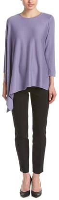 Anne Klein Women's Asymmetric Poncho Sweater
