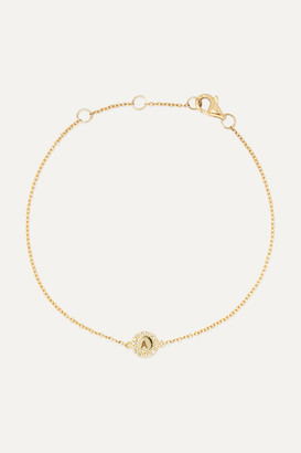 STONE AND STRAND Alphabet 14-karat Gold Diamond Bracelet - C