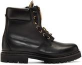 Balmain Black Taiga Combat Boots