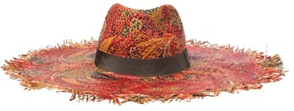 Etro Paisley raffia hat