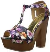 Qupid Women's Insight-36 Platform Sandal,6.5 M US