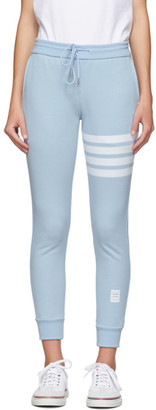 Thom Browne Blue Classic Loopback 4-Bar Lounge Pants