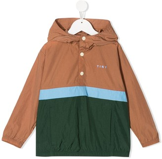 Tiny Cottons Hooded Block Color Jacket