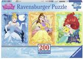 Ravensburger Disney Princess Cinderella, Belle & Ariel 200-pc. Panoramic Puzzle by