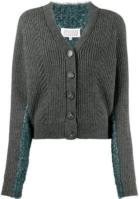 Maison Margiela Metallic-Thread Cardigan