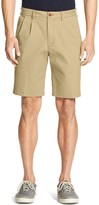 Izod Men's Double Pleated Saltwater Chino Shorts