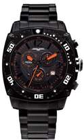 Jorg Gray Men's Chronograph Watch JG9800-12 with Black Dial and Stainless Steel Bracelet