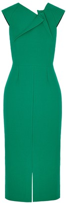 Roland Mouret Tikal green midi dress
