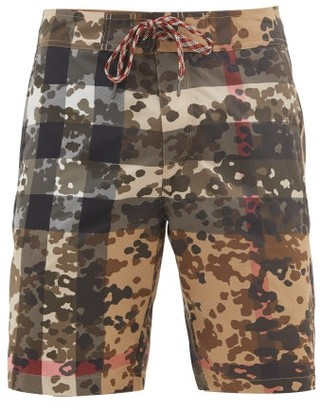 Burberry Breton Camouflage-print Board Shorts - Beige Multi