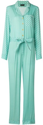 Stine Goya Geometric Pattern Belted Jumpsuit