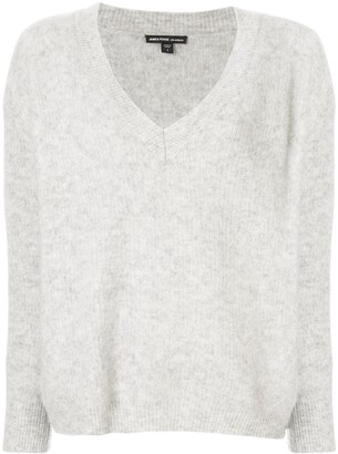 James Perse oversized V-neck jumper