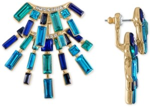 Rachel Roy Gold-Tone Multi-Crystal Front-and-Back Earrings
