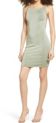 GUESS Jen Back Cutout Body-Con Minidress