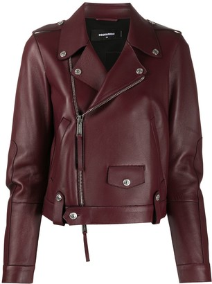 DSQUARED2 Zip-Through Biker Jacket