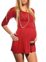 Purpless Maternity New Ladies Maternity Scoop Neck Top Tunic Pregnancy 500