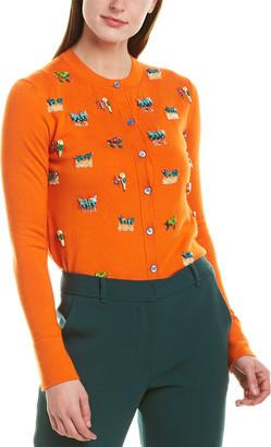 Carolina Herrera Wool & Silk-Blend Cardigan