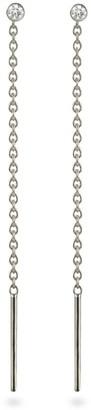 Lena Cohen Fine Jewellery 18K White Gold Diamond Chain Threader Earrings