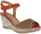 Azura Women's Liefde Perforated Ankle Strap Sandal
