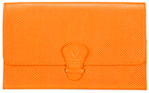 Aspinal of London Women's Classic Travel Wallet Orange
