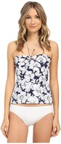 Shoshanna Hand Drawn Poppies Ring Tankini Top