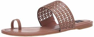 ZAC Zac Posen Women's Flat Sandal with Cutout Detail and Toe Thong Mule
