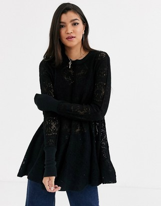 Free People Coffee In The Morning knit top
