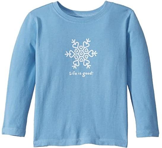 Life is Good Snowflake Crusher Knit Tee (Toddler)