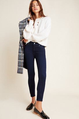 Paige Hoxton High-Rise Skinny Ankle Jeans By in Blue Size 25