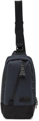 Master-piece Co Navy Slick Shoulder Backpack